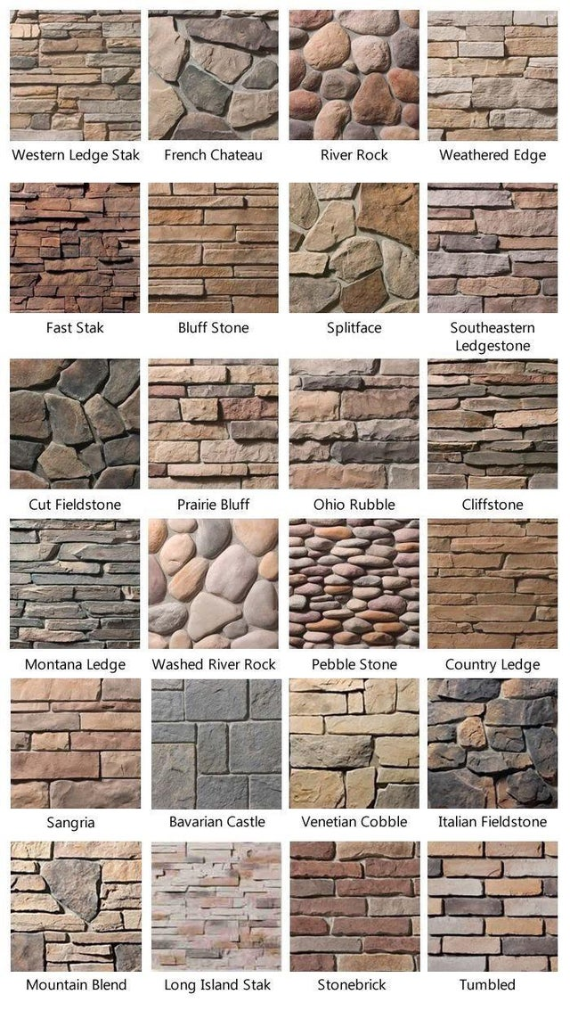 Different types of brick walls