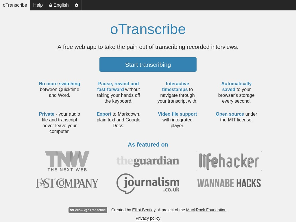 OTranscribe