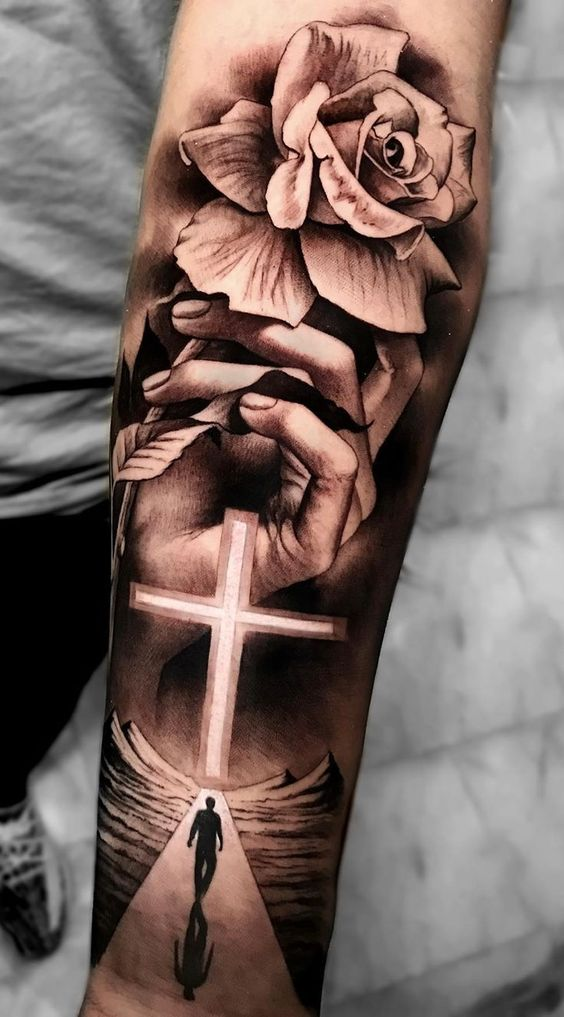 50 Beautiful Cross Tattoos To Showcase Your Faith Inspirationfeed The cross tattoo is a religious tattoo where the people that have it is for sure want to be always on his guidance and these people are really wanting that jesus christ is always beside them and protects. 50 beautiful cross tattoos to showcase