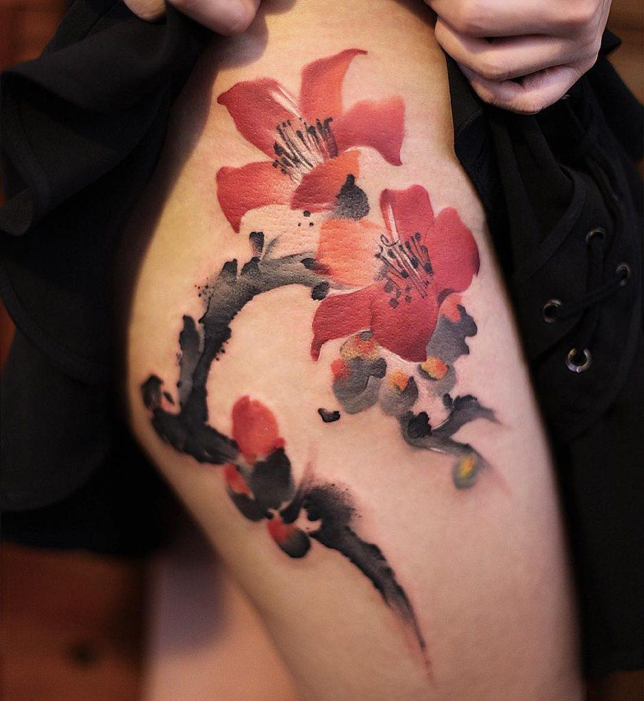 40 Creative Thigh Tattoo Ideas For Women Inspirationfeed
