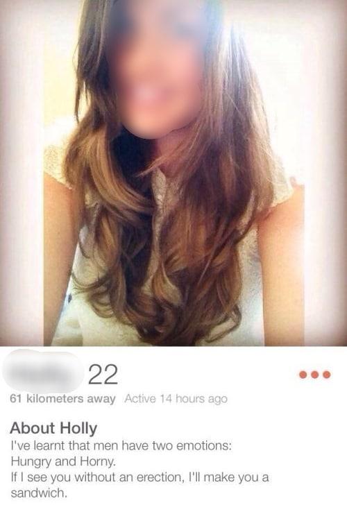 Examples female profile tinder Tinder Profile