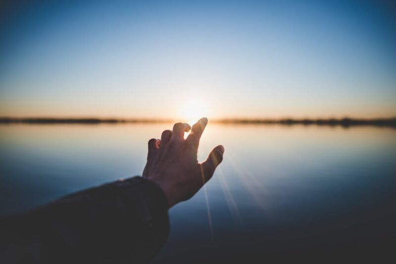 Man Touching The Sun