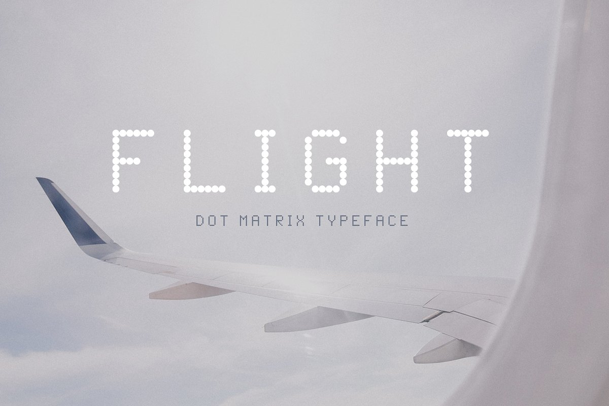 flight-dot-matrix-typeface