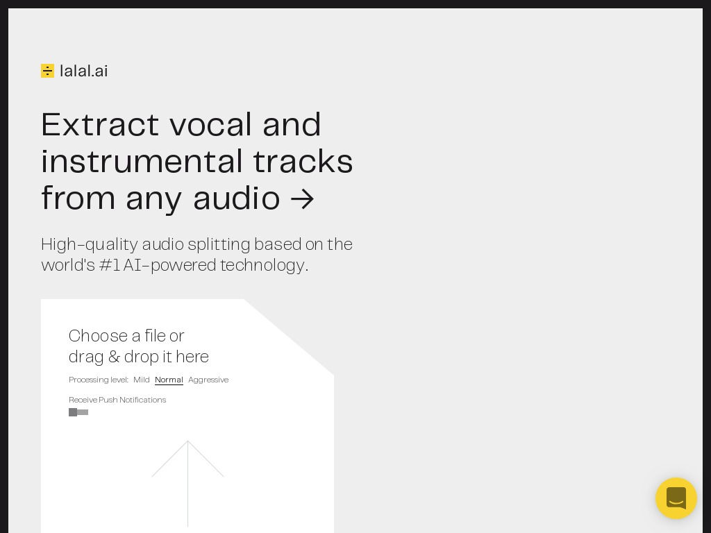 Extract Vocal and Instrumental Tracks From Any Audio with Lalal AI