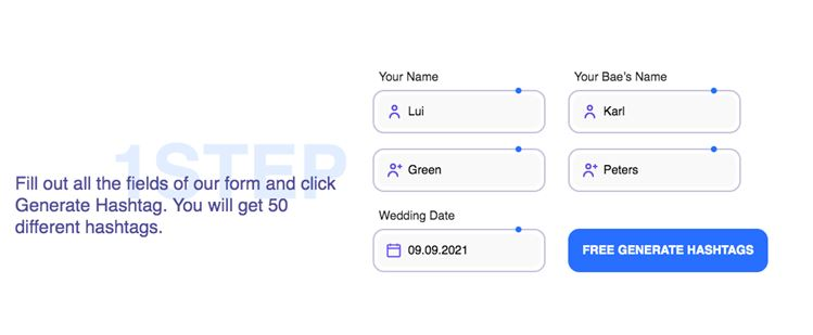 #3 Wedding hashtag generator