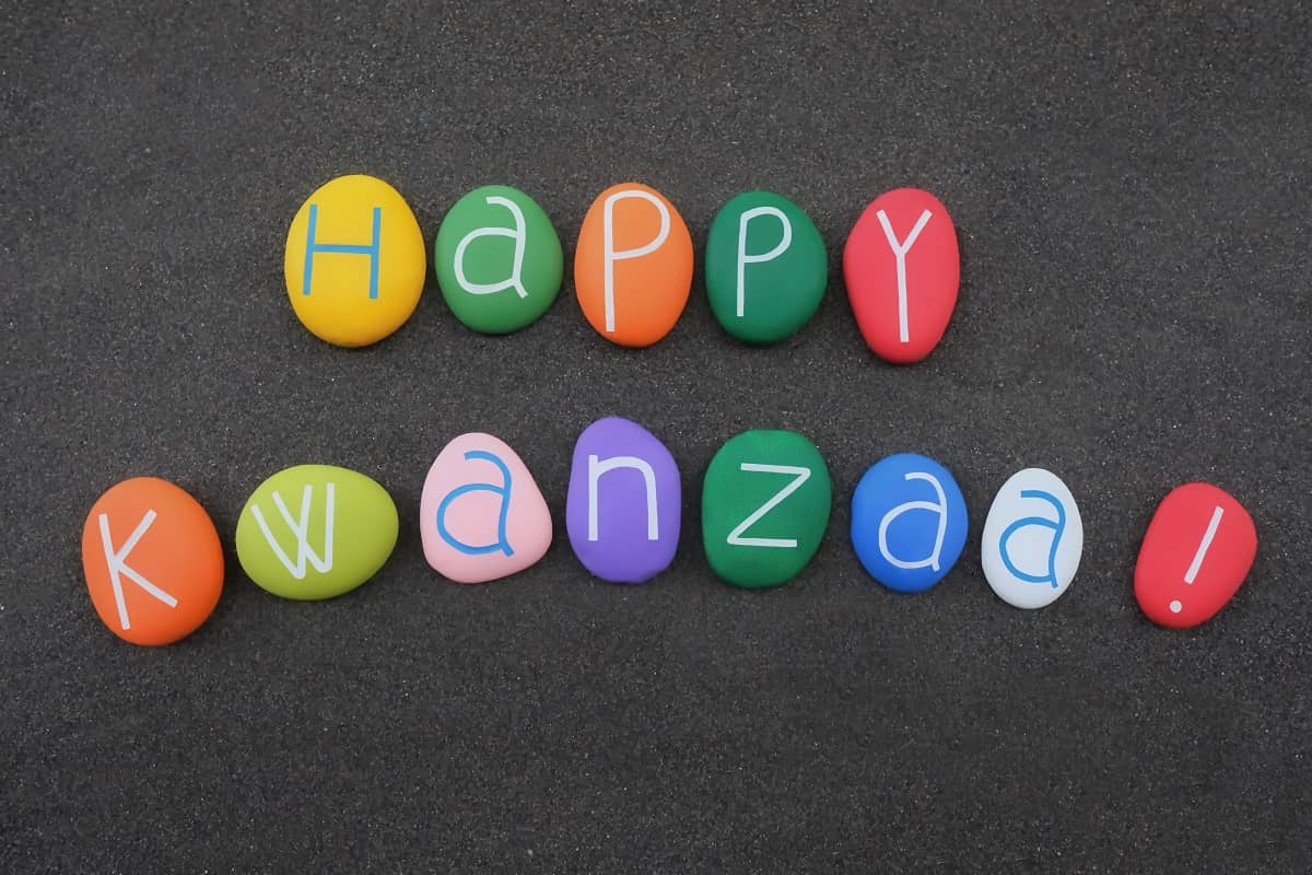 Happy Kwanzaa, African-American cultural celebration in the US