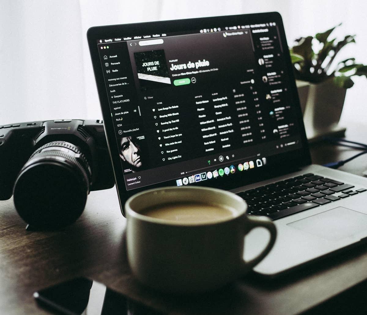 Spotify App on Desktop